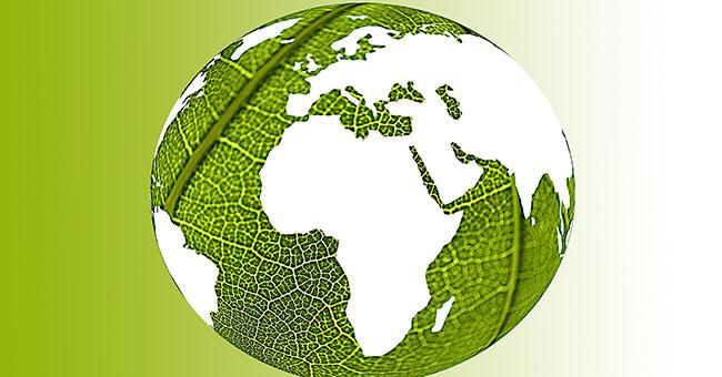 green world illustration representing environmentally friendly world