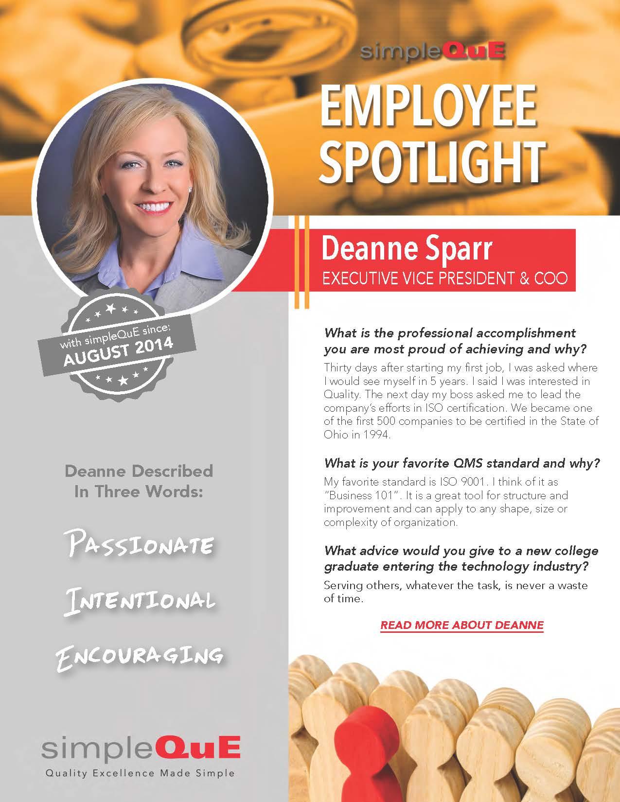 Employee Spotlight Deanne Sparr