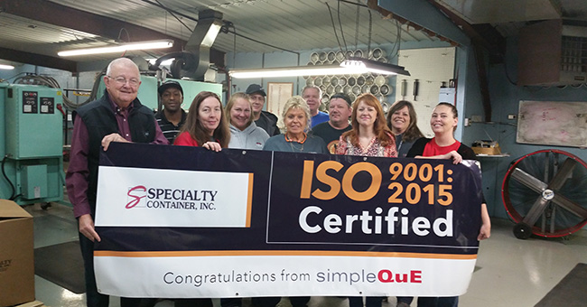 From left to right: Cliff Martin, President Danyel Brown, Production Manager Lena Calloway, Customer Service, Purchasing & Shipping Manager Jamie Freels, Shipping/Receiving Wayne Wood, Maintenance Manager Karen Jones, Quality Tech & Floater Alan Jarboe, Production Steve Stinnet, Production Lisa Hancock, Director of Operations Peggy Salerno, Accounts Payable/Data Entry Bobbie Jo Sorgius, Quality Director & Project Coordinator