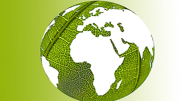 green world illustration representing environmentally friendly world