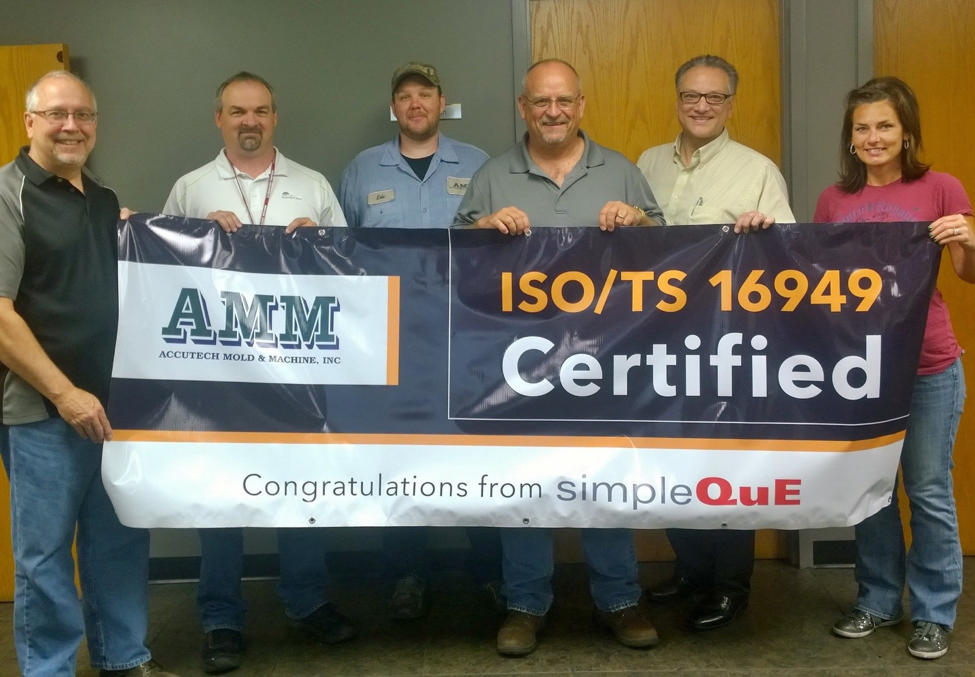 AMM's Quality Team (from left): Ray Young, John Rogers, Eric Boyd, Butch Poynter, Jim Lee (simpleQuE President) and Kari Anderson