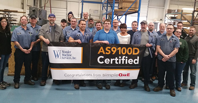 Wonder Machine Achieves New Heights with AS9100D