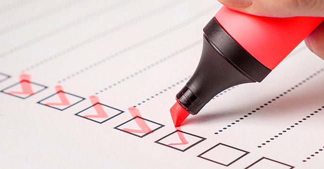 Auditing checklist using a process approach