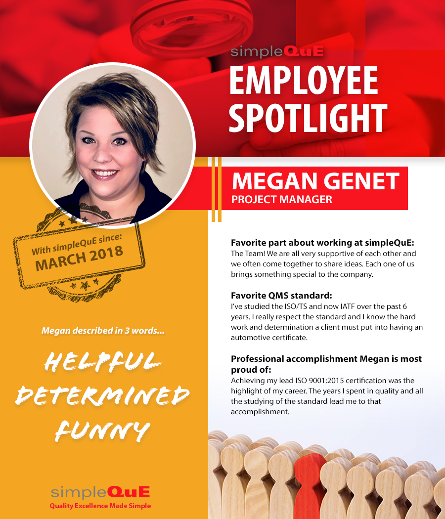 SimpleQuE Associate Spotlight - Megan Genet