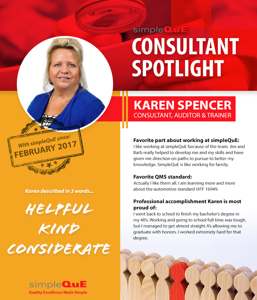 simpleQuE Spotlight - Karen Spencer