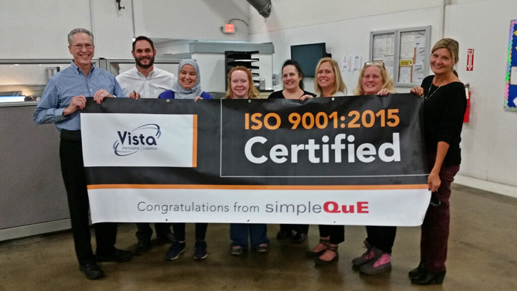 Preparing Vista Packaging for ISO 9001 certification