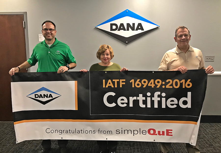 Helping DANA with IATF 16949:2016 Certification
