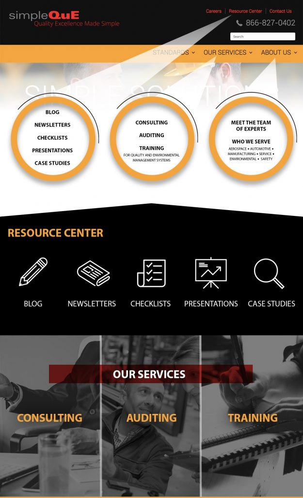 SimpleQuE Infographic - A new website and services for 2019