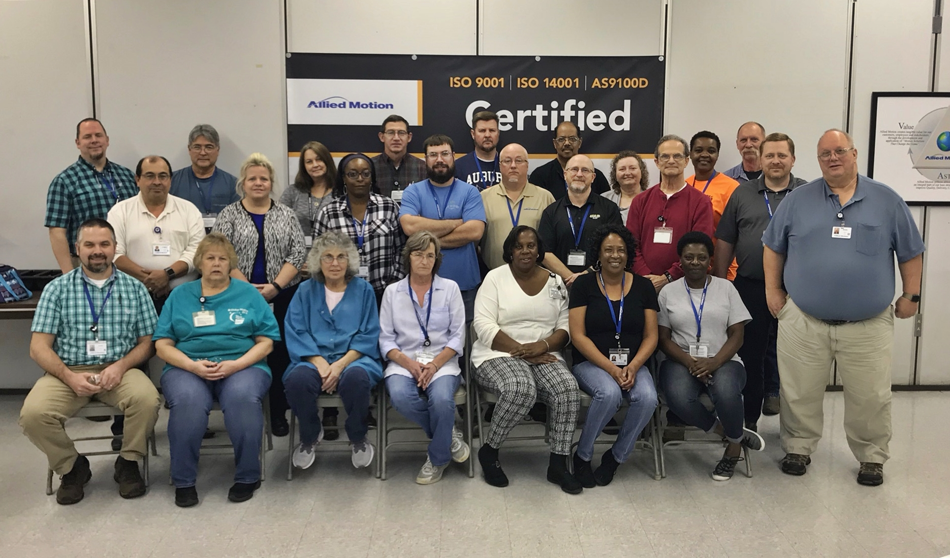 Allied Motion - Celebrating Multiple Quality Certifications