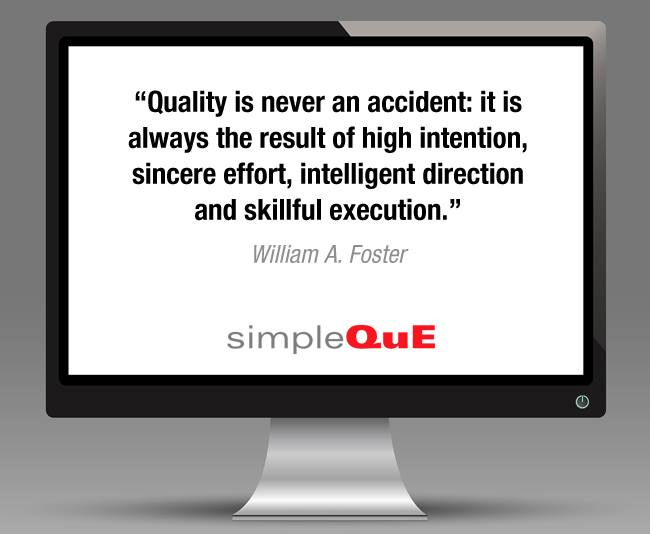 Saying about quality