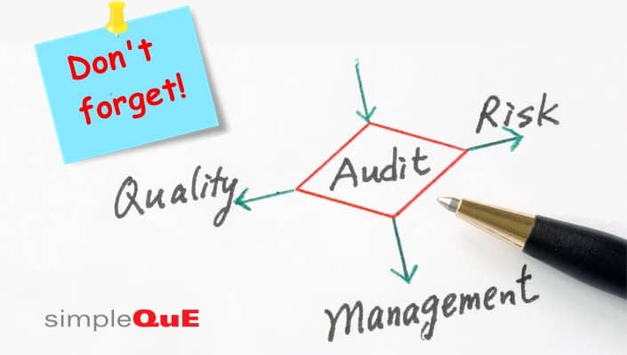 Don't forget to schedule your internal audit
