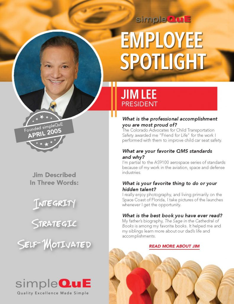 SimpleQuE spotlight on Jim Lee